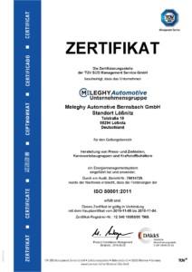 Meleghy Automotive Loessnitz Zertifikat ISO 50001 DE