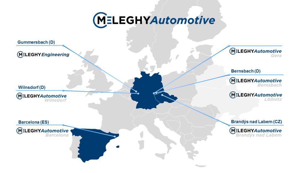 Meleghy Automotive Unternehmensstandorte
