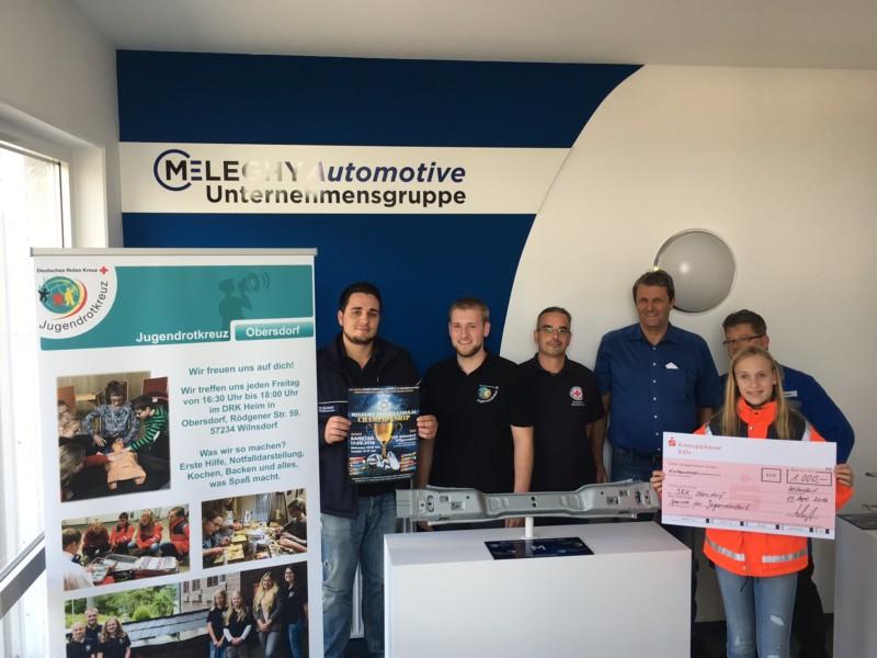 Zukunft mit uns - Spende an das Jugendrotkreuz Obersdorf