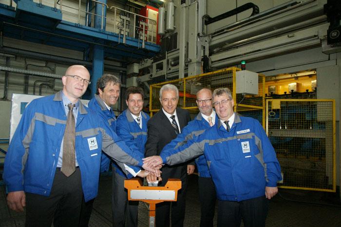 Ministerpräsident des Freistaates Sachsen, Stanislaw Tillich, besucht Meleghy Automotive Bernsbach