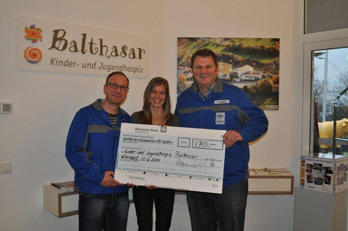 Meleghy Automotive Wilnsdorf und seine Mitarbeiter unterstützen das Kinder- und Jugendhospiz Balthasar in Olpe und die Clown Doktoren in Wiesbaden