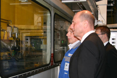 Besuch des Wirtschaftsministers von Thüringen Wolfgang Tiefensee in Gera