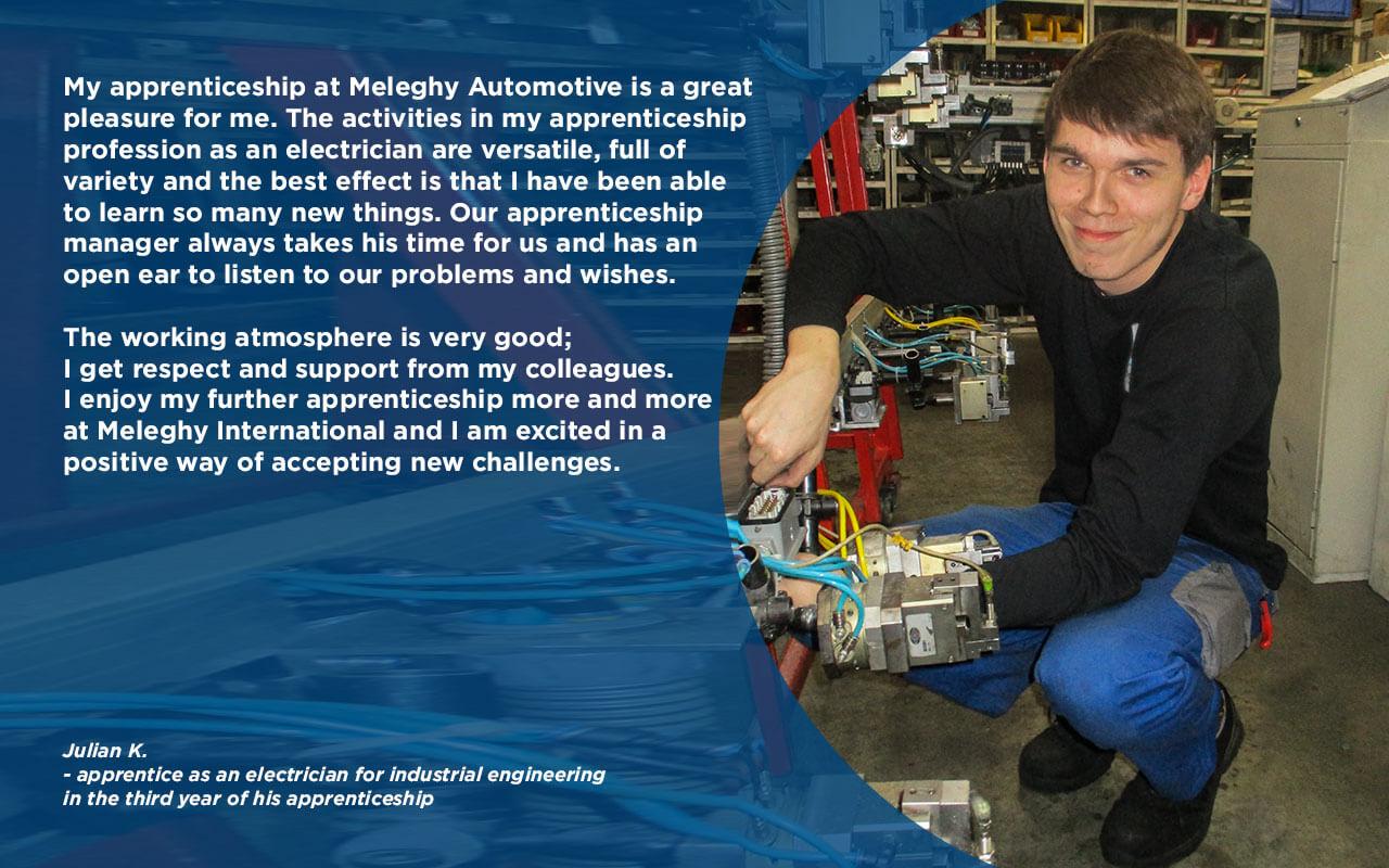 Julian K on apprenticeship at Meleghy Automotive