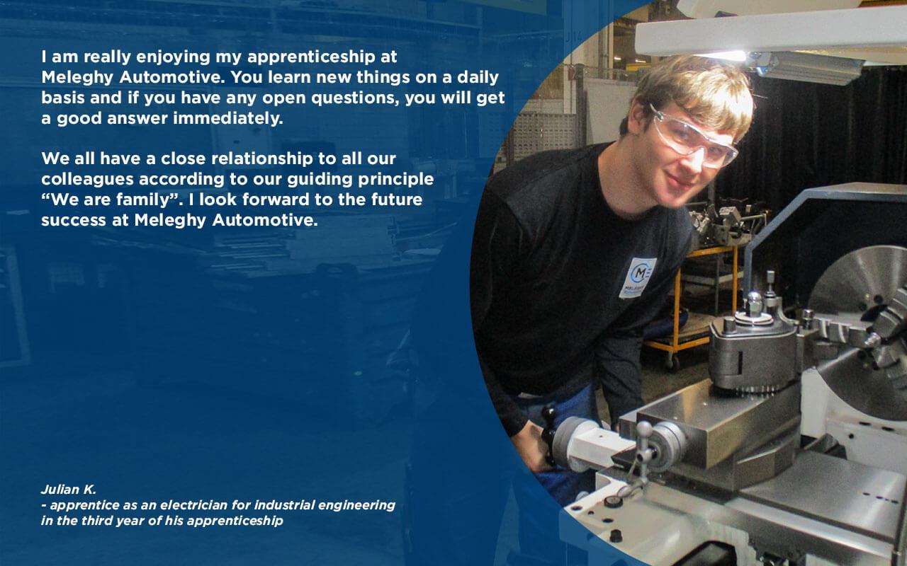 Julian S on apprenticeship at Meleghy Automotive