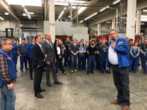 Tiefensee Wirtschaftsbesuch bei Meleghy Automotive Gera