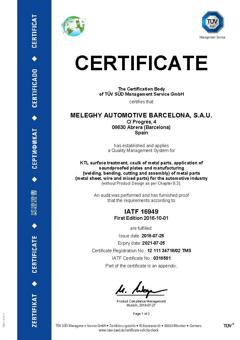 Meleghy Automotive Barcelona Certificate iso_16949_en