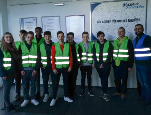 Wilnsdorf'er pupils visiting the Meleghy Automotive Wilnsdorf plant